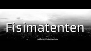 Video How to Pronounce Fisimatenten in German download MP3, 3GP, MP4, WEBM, AVI, FLV November 2017