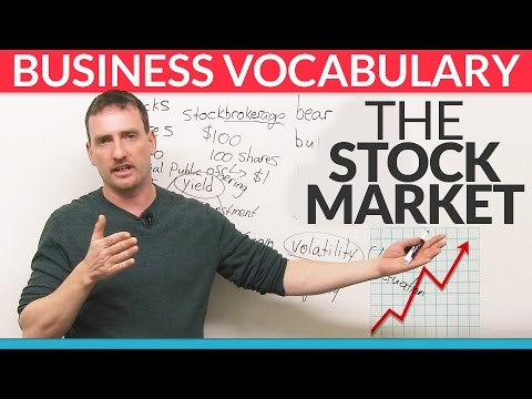 Business English Vocabulary: The Stock Market