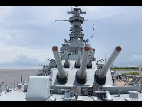 The USS Alabama (BB-60) | 75th Anniversary | Mock Air Raid at Battleship Memorial Park