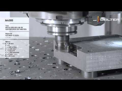Walter Tools M4000–one insert for Face-,shoulder- chamfer milling