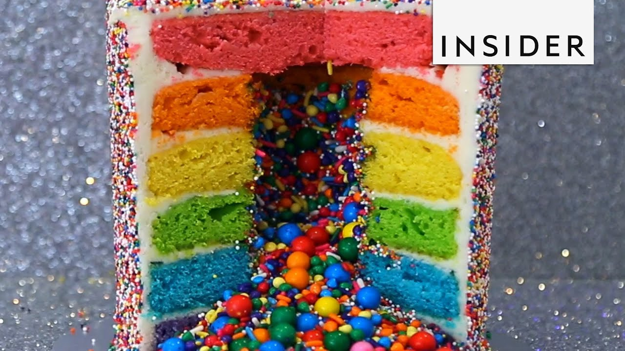 Colorful Pinata Cakes Explode With Sprinkles