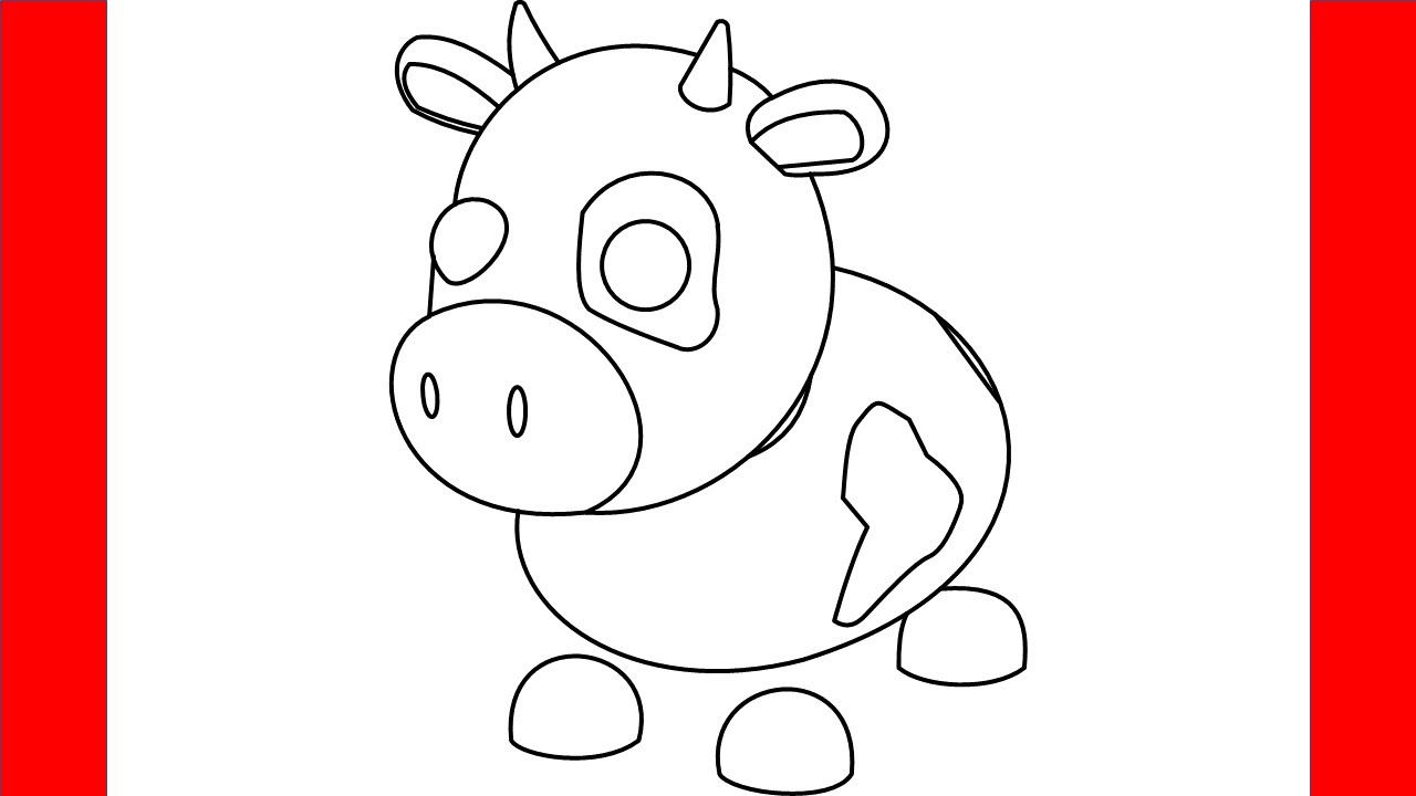 How To Draw A Cow From Roblox Adopt Me - Step By Step ...