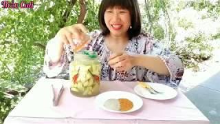 Cách ngâm táo chua ngọt, hái táo vườn nhà ở Mỹ
