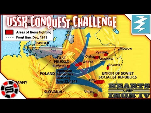 How To Conquer Russia Fast World Record Challenge ~ Hearts Of Iron IV ~ HOI4