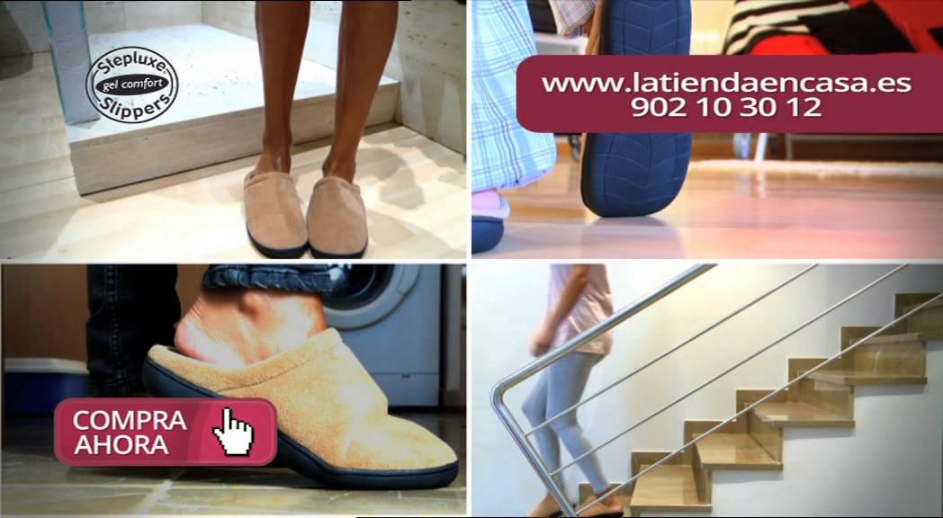 Zapatillas de andar por casa con gel stepluxe youtube - Zapatillas andar por casa originales ...