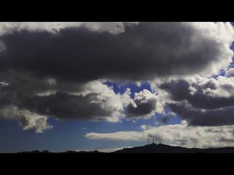 Timelapse: Clouds Roil Above San Bruno Mountain, San Francisco, California, US, 11/12/17
