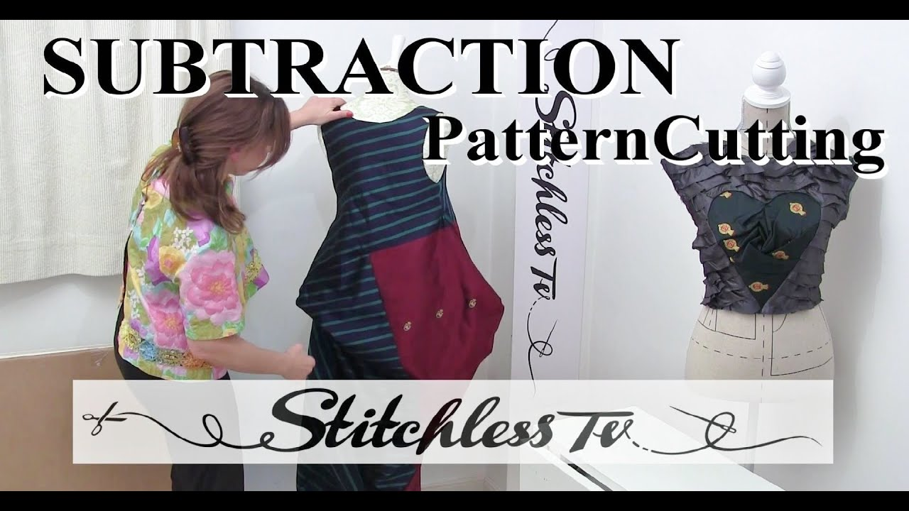 How To Do Subtraction Pattern Cutting Youtube