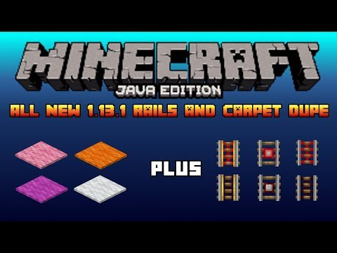Minecraft Rail Duplication in 1 13 1 35000 items h