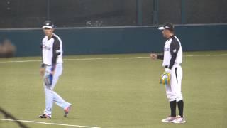 坂本選手、鳥谷選手から守備の勉強中? マツダオールスターゲーム2014 西武ドーム