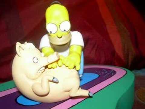 The Simpsons Movie Homer And Plopper Spider Pig Youtube