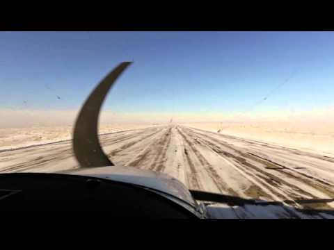 Winter Flying around Southern Alberta in a Cessna 182
