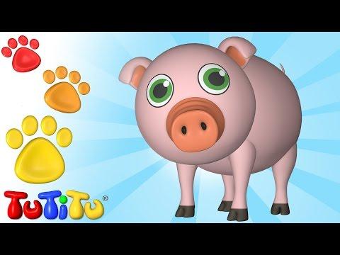 TuTiTu Animals | Animal Toys for Children | Pig and Friends