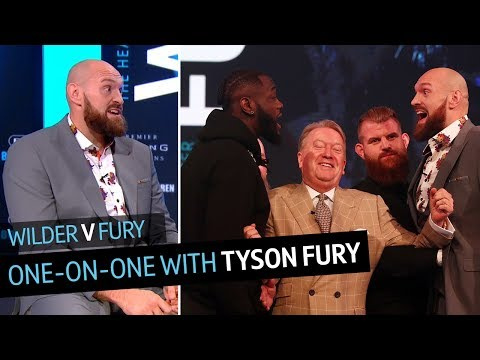 One-on-one with Tyson Fury: Reacting to his press conference clash with Deontay Wilder
