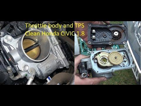 """Honda Civic VIII IX 1.8  FULL Throttle Body  + TPS Sensor + """"IAC""""  Cleaning R18A"""