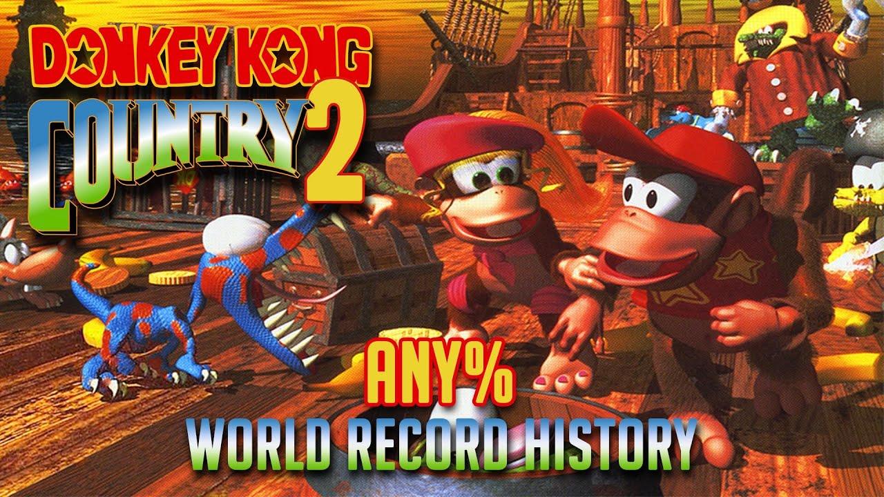 Donkey Kong Country 2 - Any% Speedrun World Record History