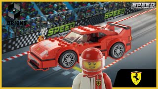 Lego 2019 Speed Champions set Ferrari F40 Competizione 75890 Unboxing, Build, and Review -4K-