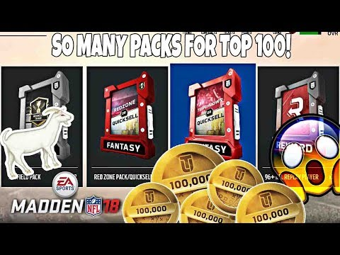 NEW WEEKEND LEAGUE REWARDS GIVE YOU SO MANY PACKS! 96 OVERALL PULL! Madden 18 Ultimate Team