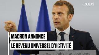Plan pauvreté : Emmanuel Macron annonce le revenu universel d'activité