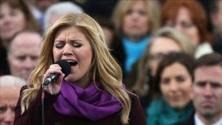 Kelly Clarkson Performs at Obama Inauguration
