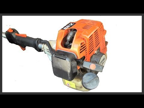 How to start a gas powered string trimmer