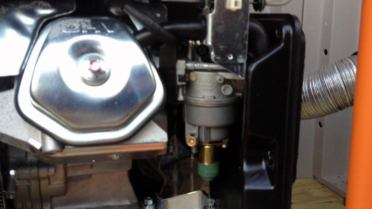 Subaru Generator Wiring Diagram Generac Gp5500 Portable Generator Leak Youtube