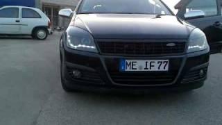 Dectane Dayline LED Scheinwerfer Opel Astra H SCHWARZ