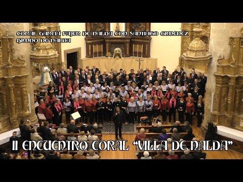 Coral Garcia Fajer de Nalda con Santiago Giménez interpretan Himno de Nalda