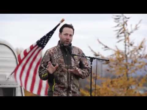 Joe MIller speaks at Alaska Patriot Gathering