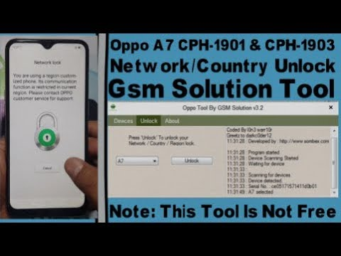 Oppo A7 CPH-1901 & CPH-1903 Network/Country Unlock By Gsm Solution Tool