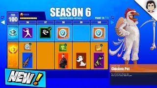 *NEW* SEASON 6 BATTLE PASS LEAKED ITEMS! Fortnite LEAKED PETS, WEAPON SKINS, OG MUSIC & THEMES!