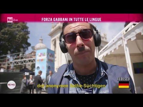 Forza Gabbani in tutte le lingue - Nemo - Nessuno Escluso 04/05/2017