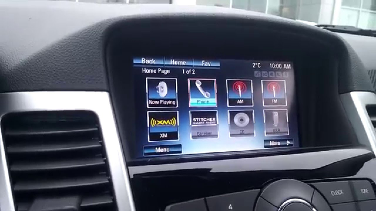where is my back up camera cruze [ 1280 x 720 Pixel ]