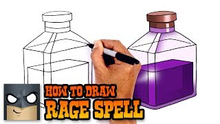 How to Draw Rage Spell | Clash Royale