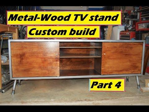 Metal-Wood TV stand build part 4
