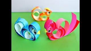 как сделать птицу из бумаги. Pjaro de papel .DIY Paper BIRD