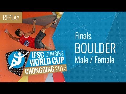 IFSC Climbing World Cup Chongqing 2015 - Bouldering - Finals - Male/Female