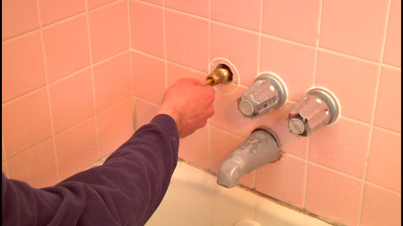 Fixing a Dripping Shower Head (changing faucet valve ...