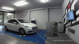 Peugeot 208 1.2 Puretec 110cv Reprogrammation Moteur @ 136cv Digiservices Paris 77 Dyno