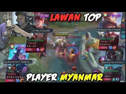 FULL TEAM MARSHA VS TOP PLAYER MYANMAR - MOBILE LEGENDS INDONESIA