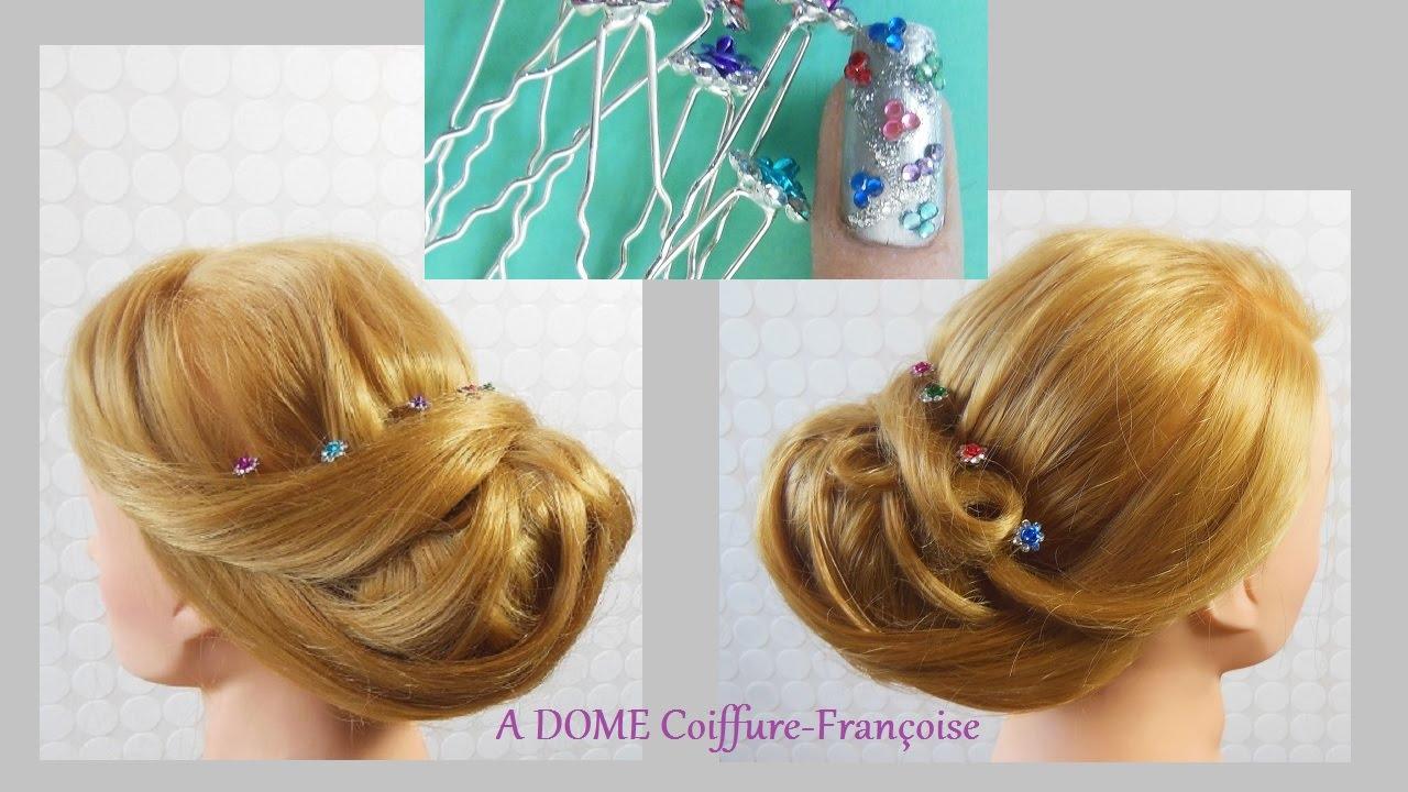 Coiffure Chignon Bas Elegant Low Bun Updo Hairstyle Peinado Recogido Bajo Elegante Youtube