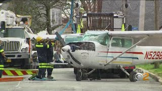 Neighbors Recount Small Plane Crash In Long Island