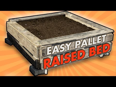 simple-raised-beds-from-pallets-made-with-only-hand-tools-//-best-design-for-longevity