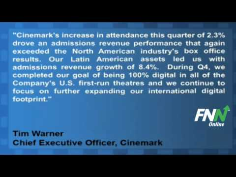 Cinemark Reports Mixed Earnings For Q4, Rose 2.1% Year-Over-Year