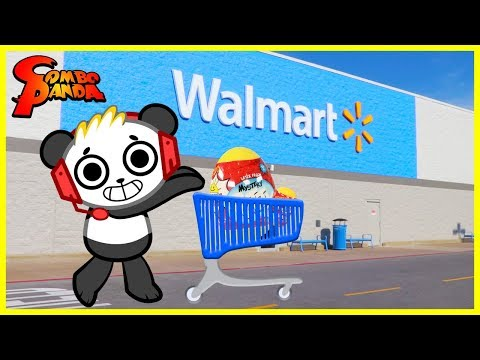 COMBO PANDA TOYS ARE HERE ! Ryans World Toy Shopping at Walmart and Unboxing Surprise Toys