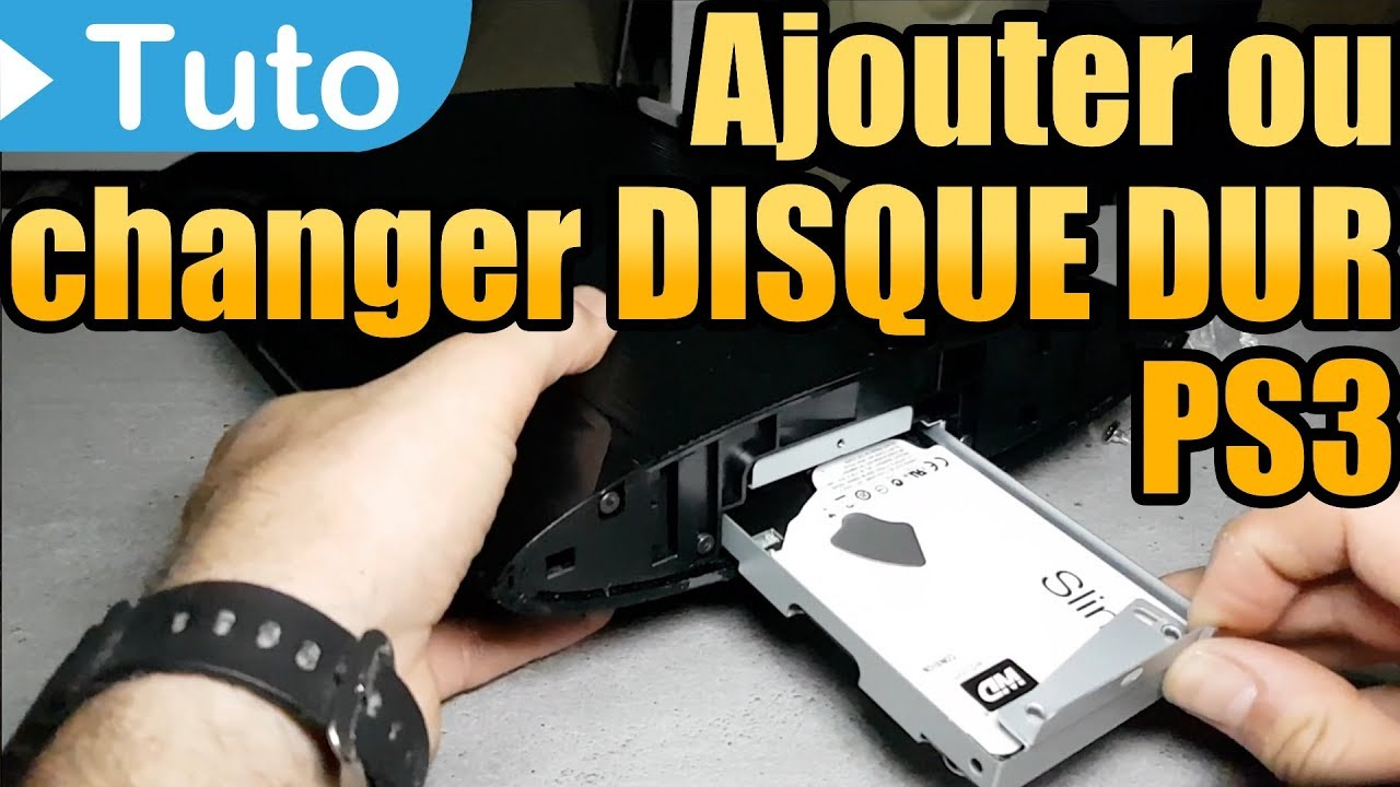 tuto changer ajouter un disque dur sur ps3 ultra slim playstation youtube. Black Bedroom Furniture Sets. Home Design Ideas
