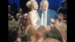 Lady Gaga performing at the event in honor of the 90th birthday of Tony Bennett (09/15/2016)