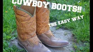 DIY COWBOY BOOTS!! - F*ck The System Style...