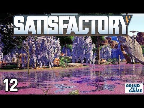 SATISFACTORY #12 - Where To Find URANIUM, Quartz And Sulfur [4k]