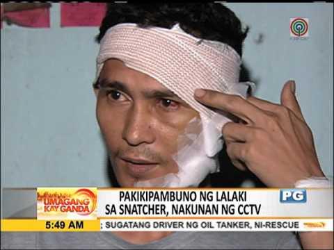SAPUL sa CCTV: Lalaki nanlaban sa snatcher, sugatan