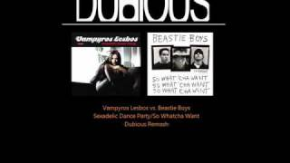 Vampyros Lesbos vs. Beastie Boys - Sexadelic Dance Party/So Whatcha Want | Dubious Instrumental